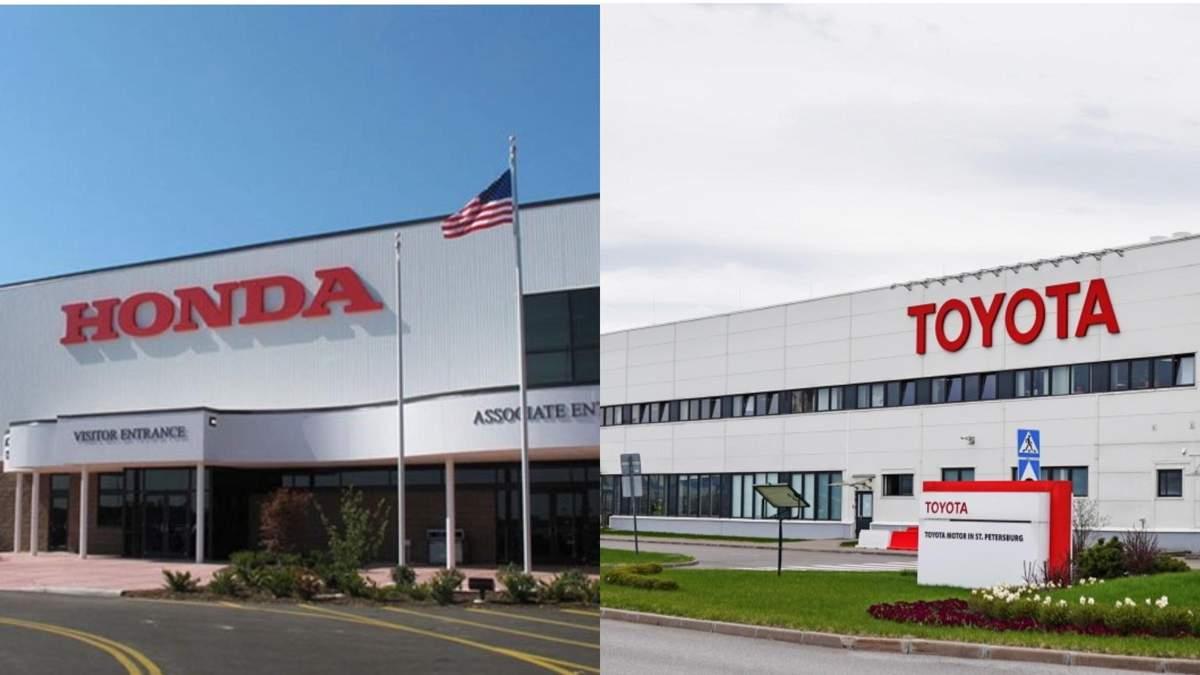 Заводи Honda та Toyota припинять роботу в Північній Америці