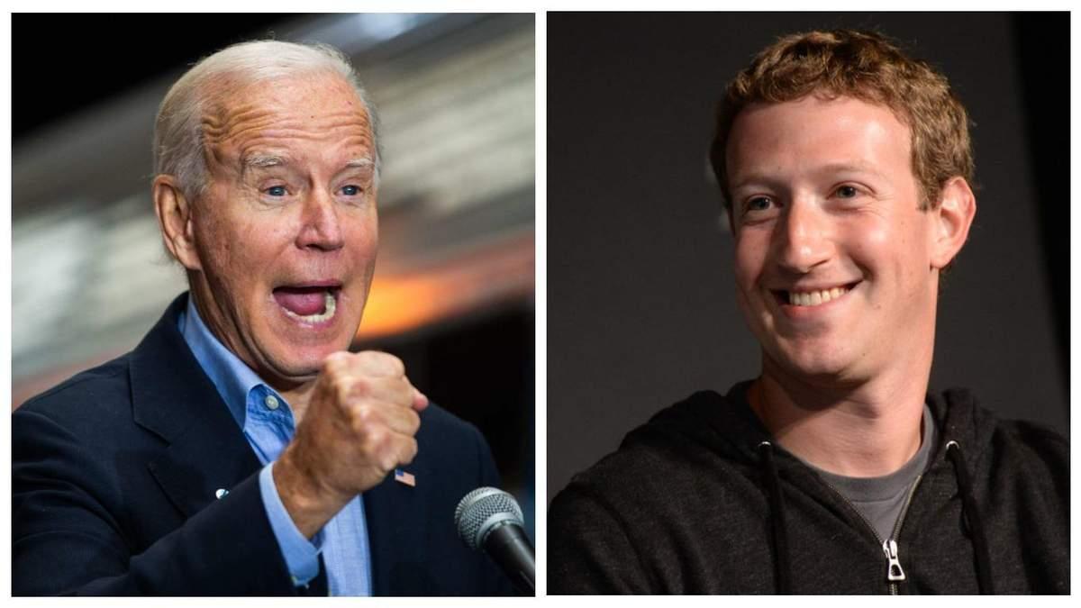 Джо Байден звинуватив Facebook у дезінформації
