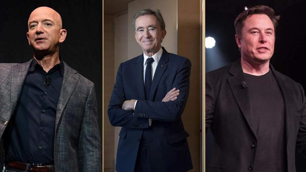 Forbes: Безос та Маск знову лідери рейтингу