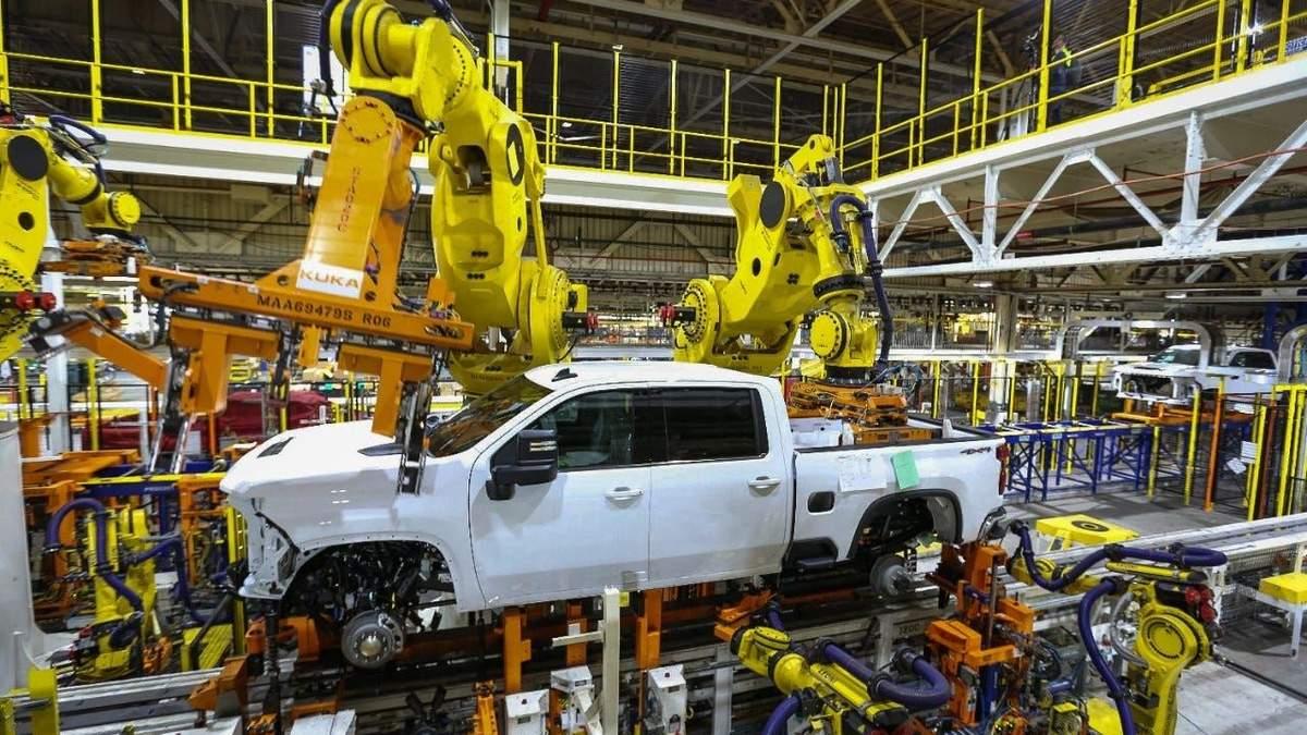 General Motors тимчасово закриває деякі свої заводи