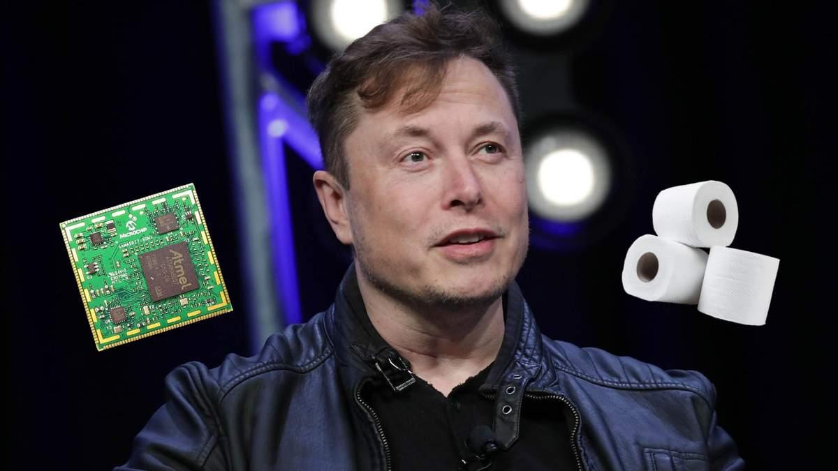 Илон Маск сравнил дефицит микрочипов с нехваткой туалетной бумаги