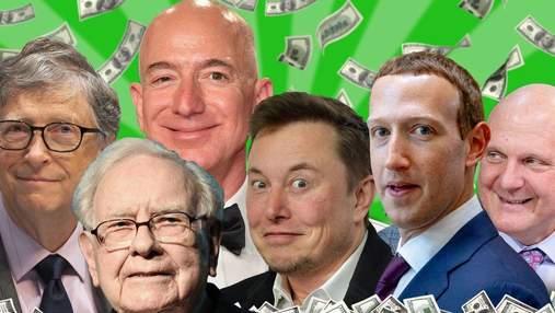Перегони мільярдерів: Маск, Цукерберг чи Безос –  хто заробив найбільше під час пандемії