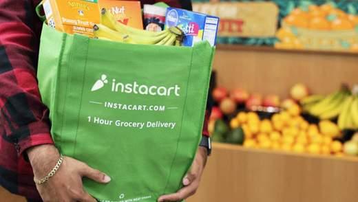 Продуктовий сервіс Instacart став одним з найдорожчих стартапів у США